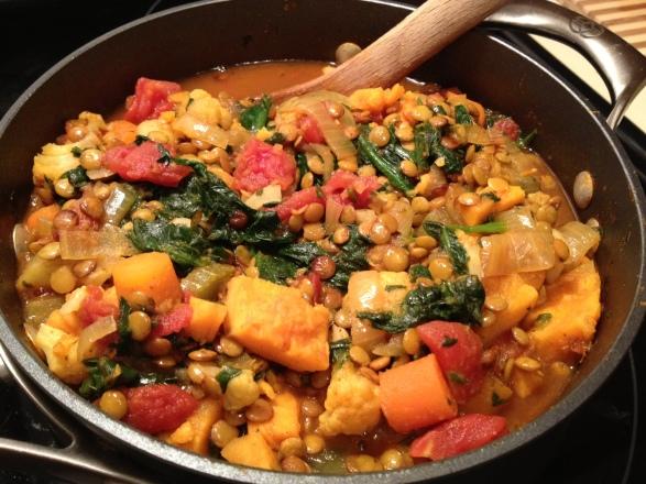 Sweet Potato Lentil Curry 1