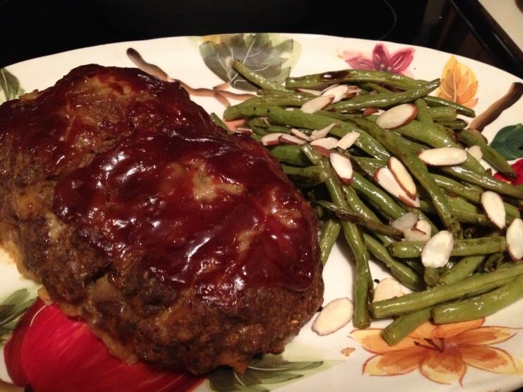Turkey Meatloaf and Garlicky Green Beans