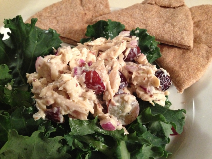 Honey Dijon Chicken Salad with Grapes and Almonds_2