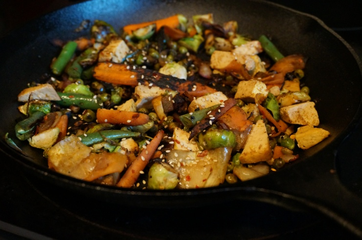 Spring Veggie and Tofu Skillet