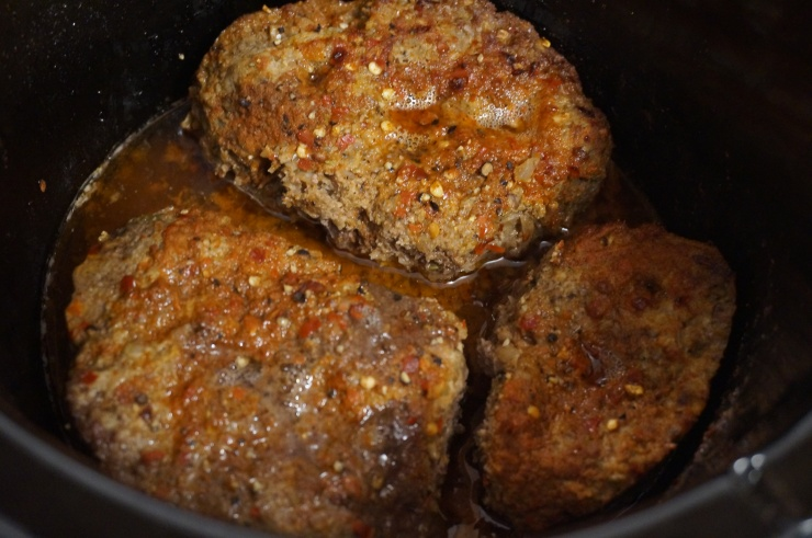 Cook meat in crock pot for 2-3 hours.