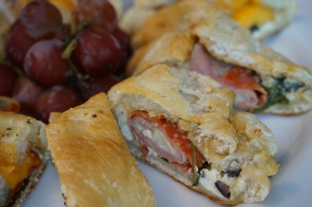 Three-Cheese Ham & Pepperoni Rolls