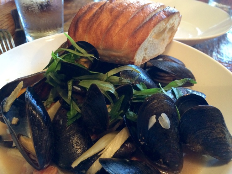 One of our Appetizers: Mussels at The Boot Durham