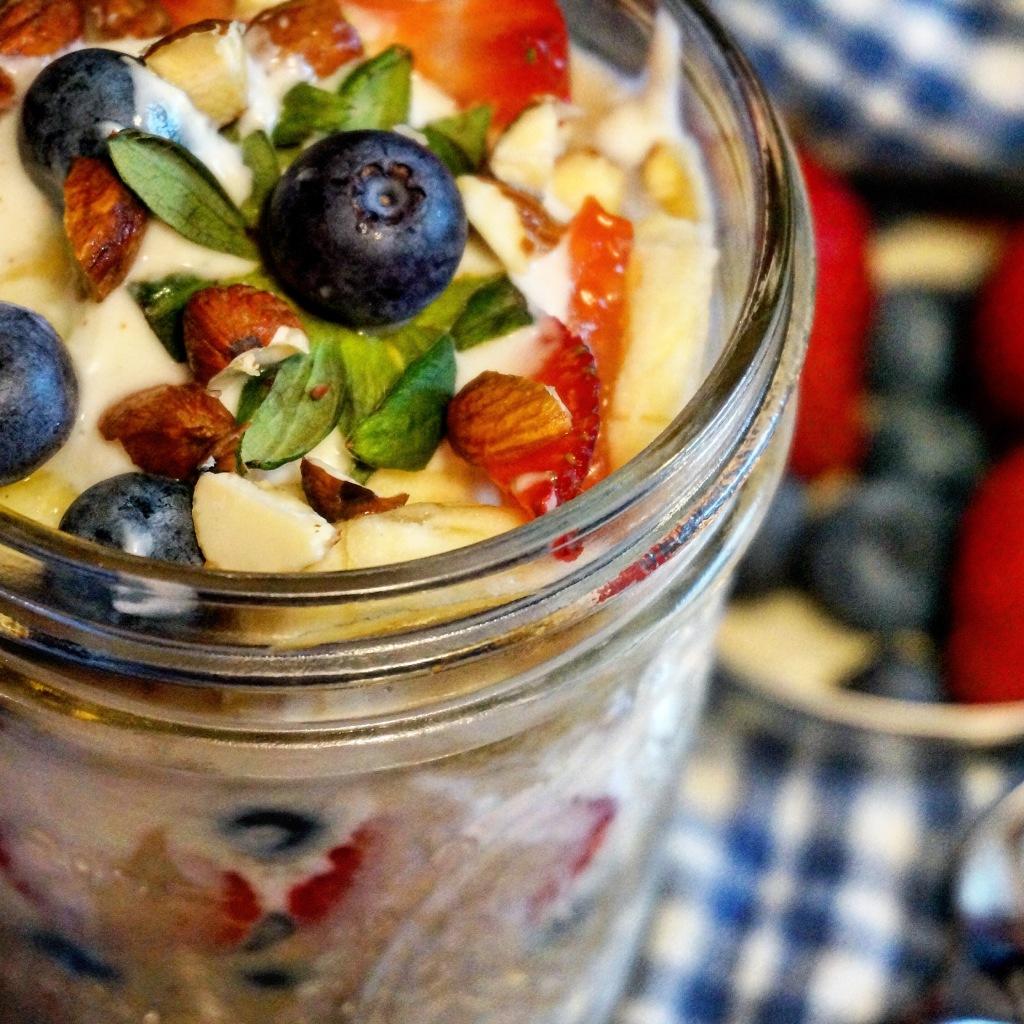 Patriotic Oats & Yogurt Parfait