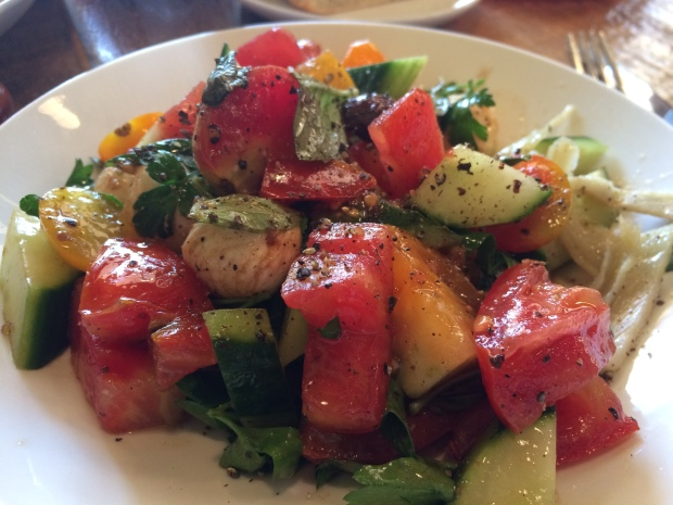 Local Tomatoes Salad at The Boot Durham