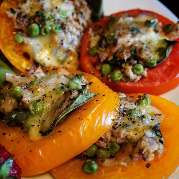 Caprese Tuna Melts with Fontina Cheese