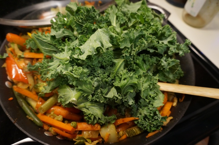 Add some kale and steam.