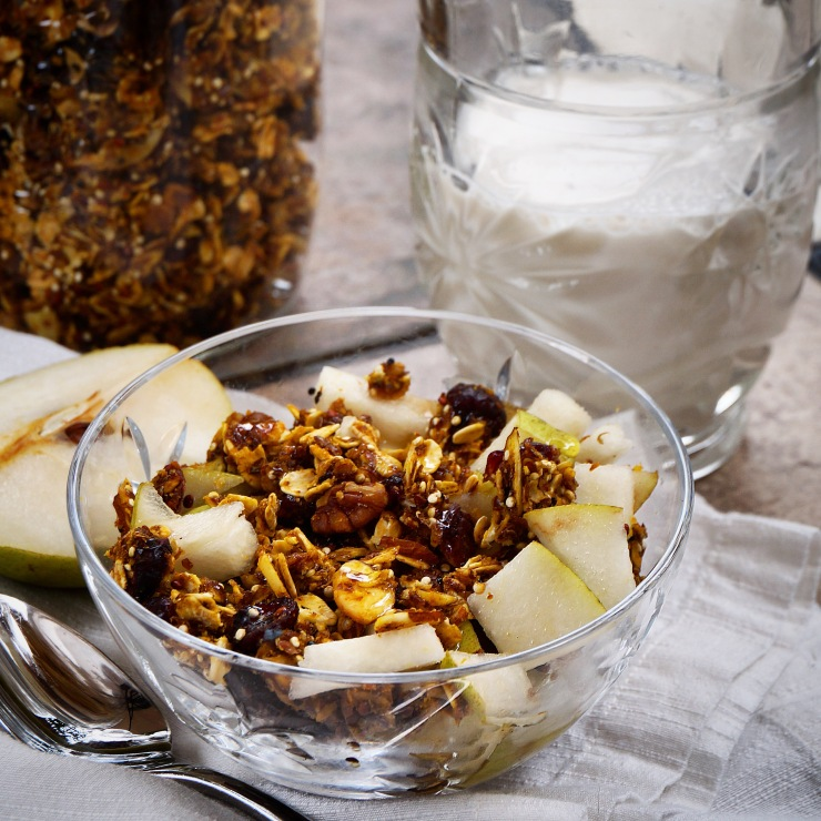Rainy Day Spiced Molasses Granola