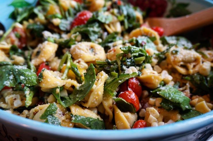 Fresh Corn & Tomato Basil Tortellini Salad