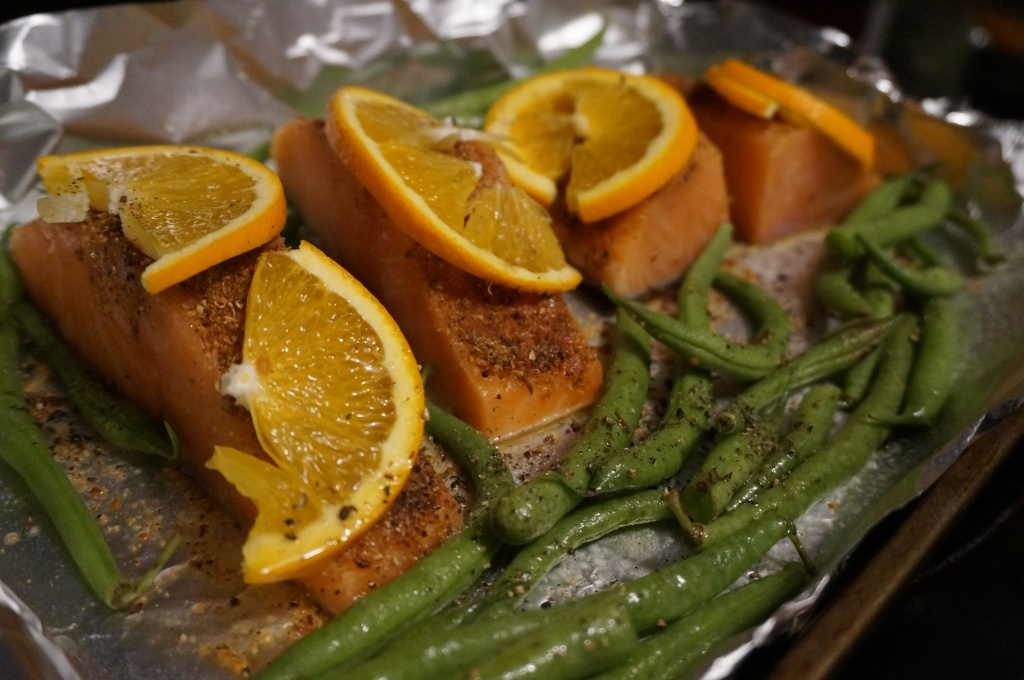 Thawed Salmon Fillets with Marinade