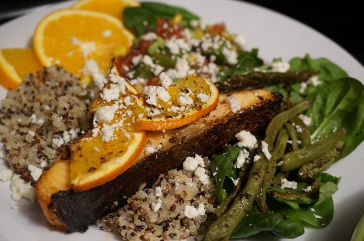 Easy Citrus Salmon & Southern Succotash Salad