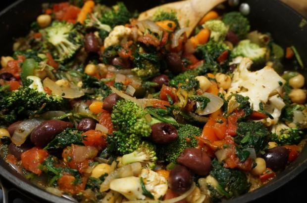 Add veggies and simmer.