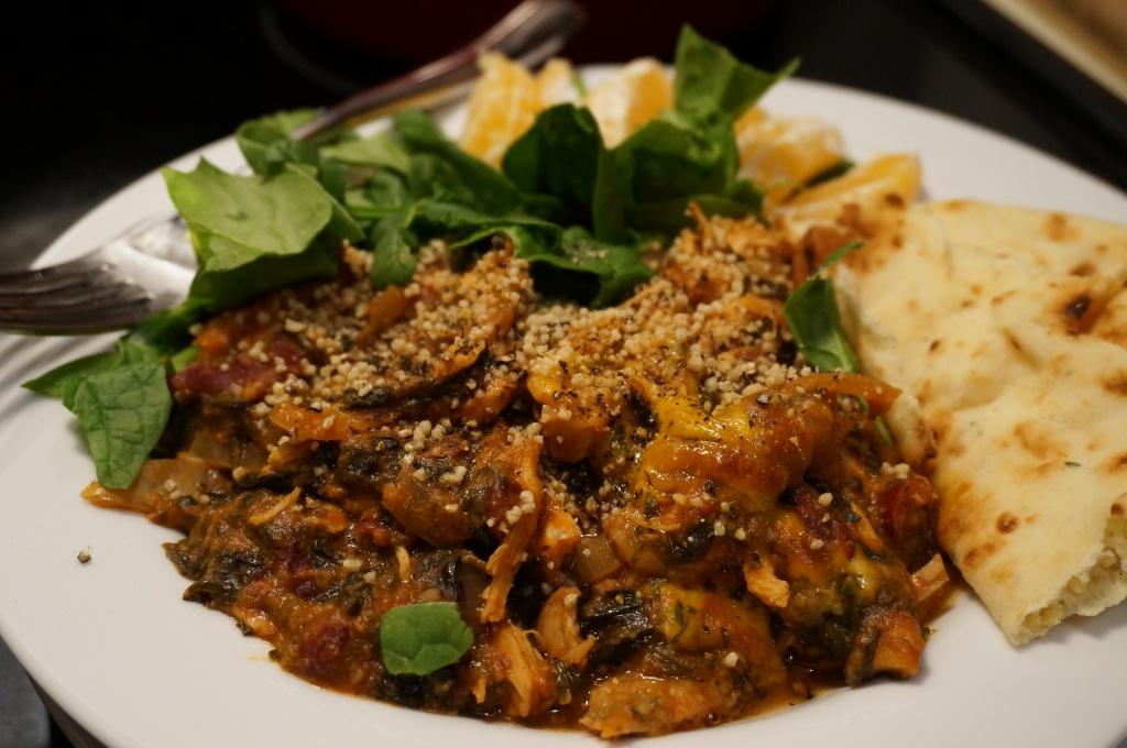 Snowed-in BBQ Chicken & Spinach Casserole