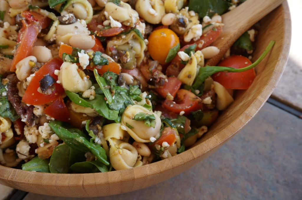 Tortellini Salad w/ Basil and Olive Tapenade