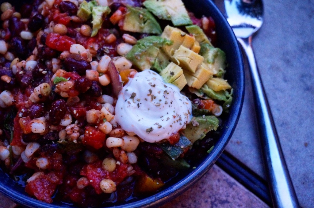 Black Bean & Roasted Corn Salad w/ Cilantro Lime Vinaigrette