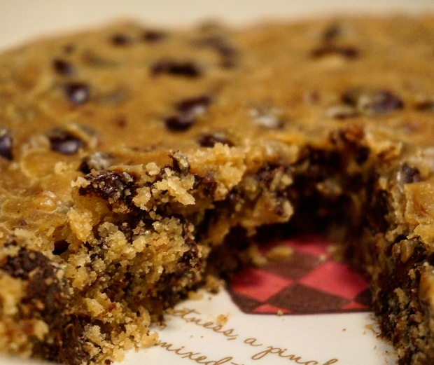 Peanut Butter Tahini Cookie Cake
