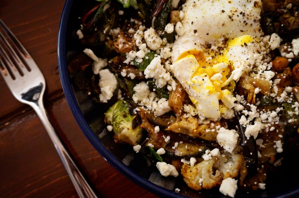 Roasted Eggplant and Curried Cauliflower Grain Bowl
