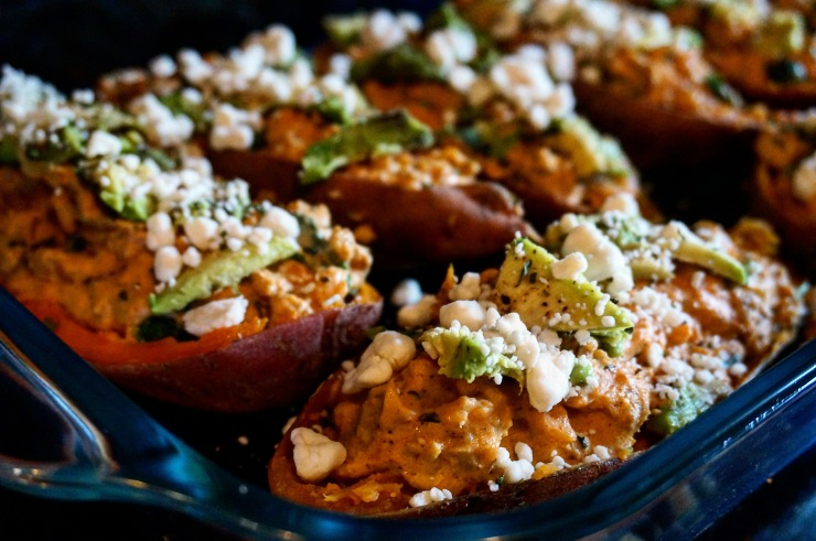 Twice-Baked and Stuffed Sweet Potatoes