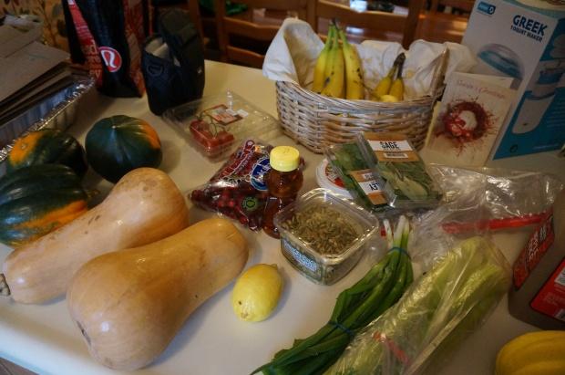 Prepping ingredients.